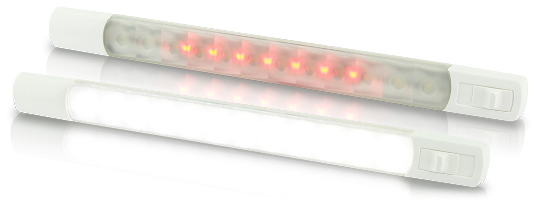 Dual Colour Strip Lamps with White Red LEDs