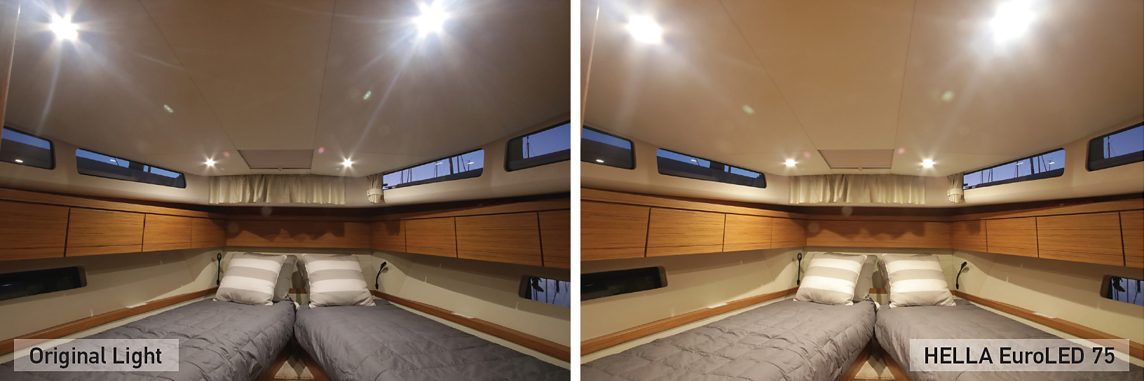LED Down Light Comparison Cabin