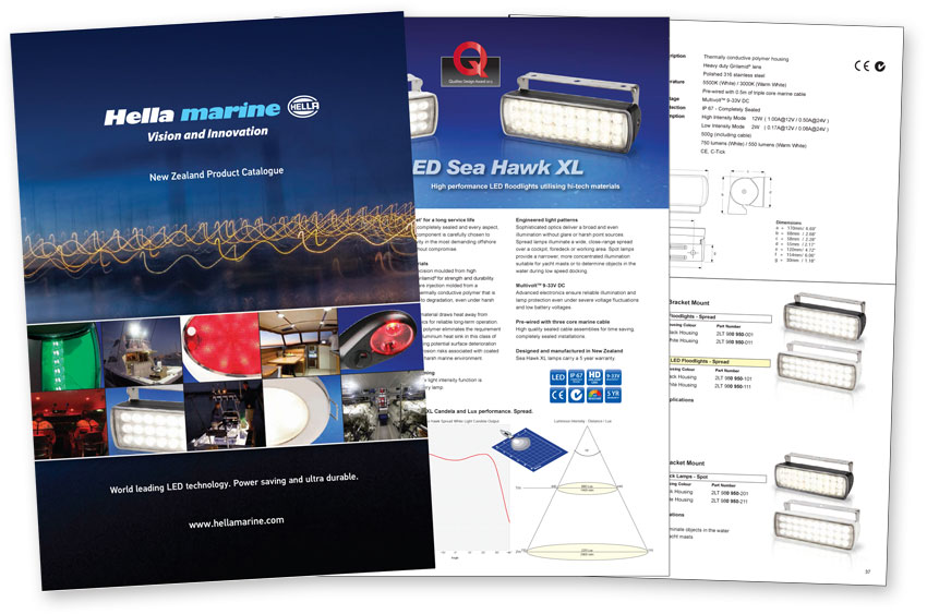 New Hella marine Product Catalogue NZ