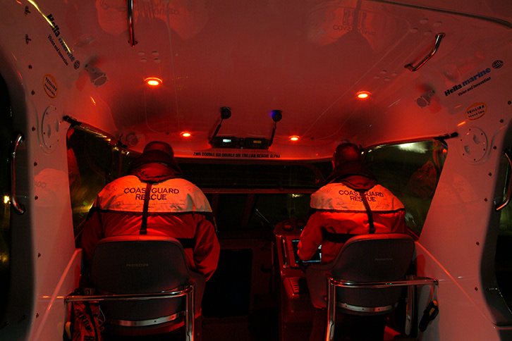 Red Lights in Coast Guard Cabin