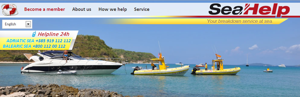 Sea Help website banner