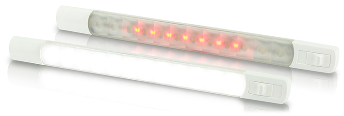 White - Red Strip Lamps with Switch