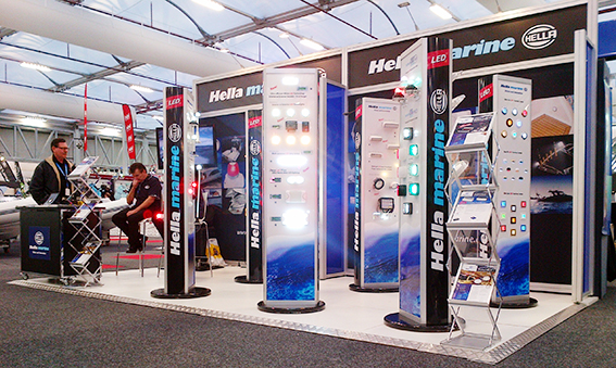 Hella marine stand at the Sydney International Boat Show 2014
