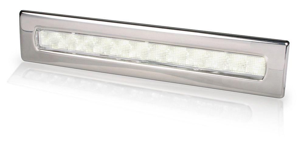 LED Streifenleuchte mit Zierrahmen aus Edelstahl - Innen und Außen ...