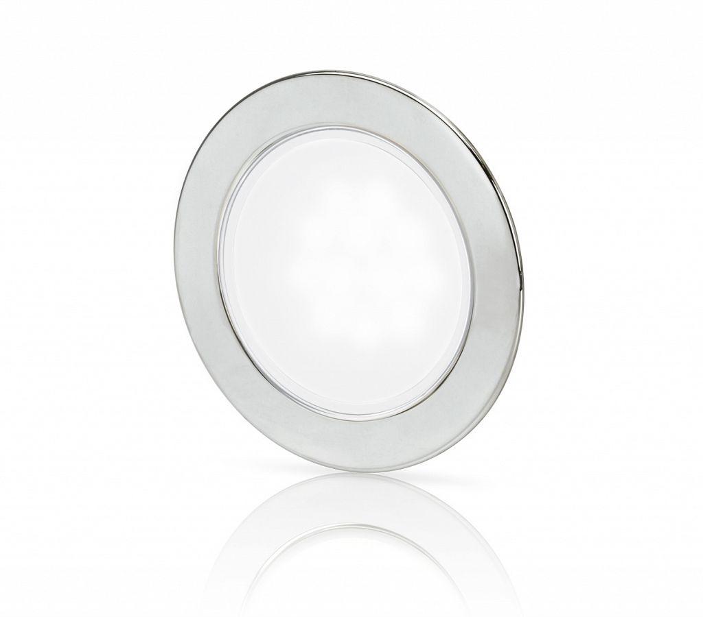 Warm White EuroLED 95 LED Down Lights Stainless Steel Rim