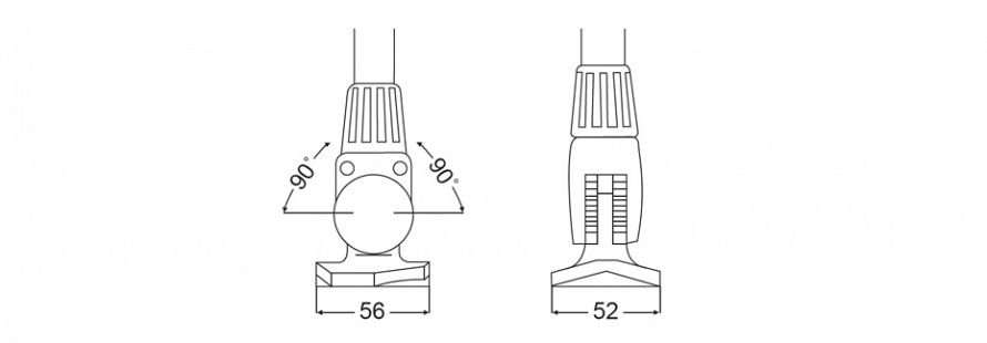 NaviLED 360 Fold Down Pole Mount Line Drawing