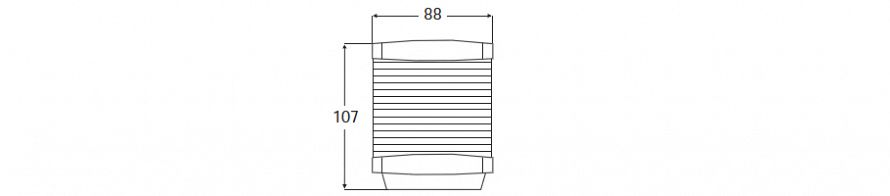 2984 Series Tri-colour All Round Line Drawing