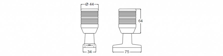 2 NM Anchor Lamp 5002 Series
