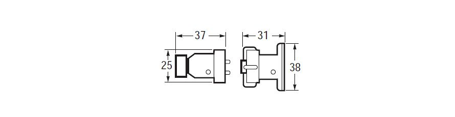 Chrome Brass Plugs and Sockets Line Drawing
