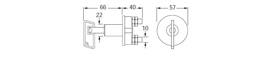 50 Amp Battery Master Switch Line Drawing