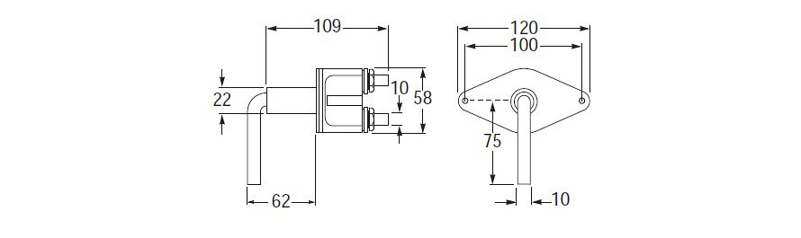 100 Amp Battery Master Switch Line Drawing