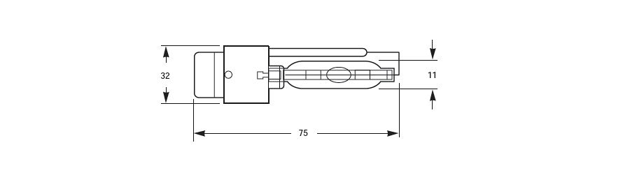 D2S HID Xenon Bulb Line Drawing