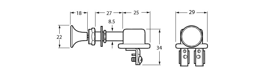 Push / Pull Switch Line Drawing