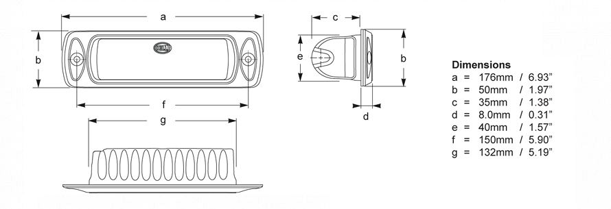 Sea Hawk-R Recessed Line Drawing