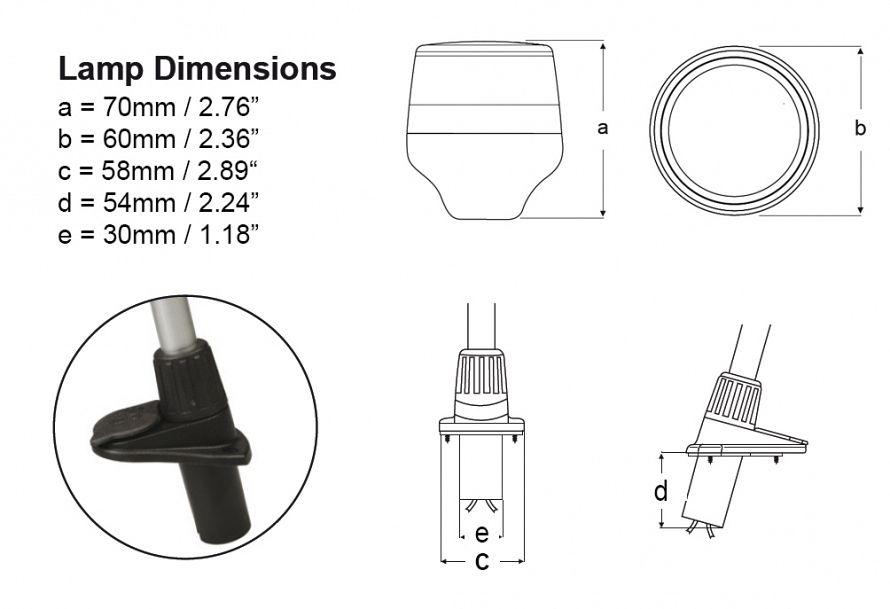 2 nm naviled 360 all round white plug