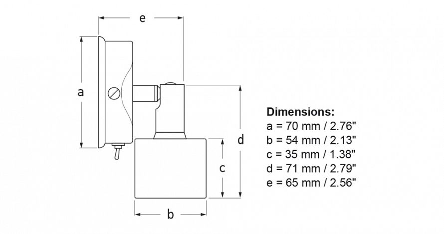 White LED Ponui Gen 2 Wall Mount Lamps - Diagram