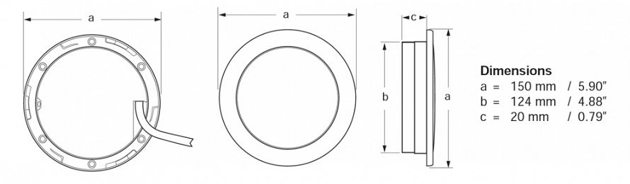 Recessed EuroLED Line Drawing
